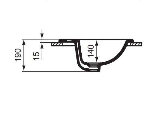 Умывальник страиваемый Vidima Сириус W502361 схема