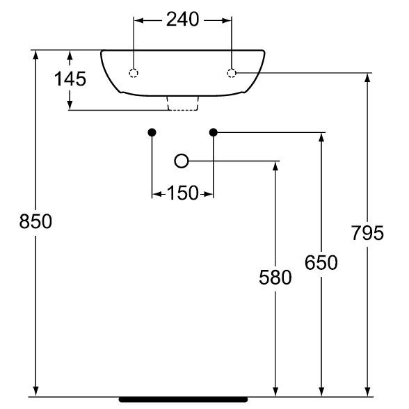 Схема раковины Vidima (Видима) Сириус W418661