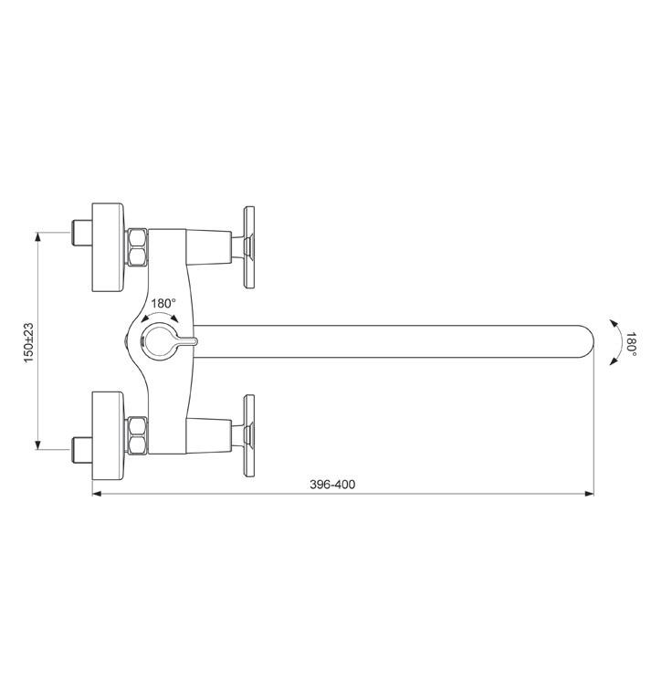 Схема смесителя для ванны/душа Vidima Art 330
