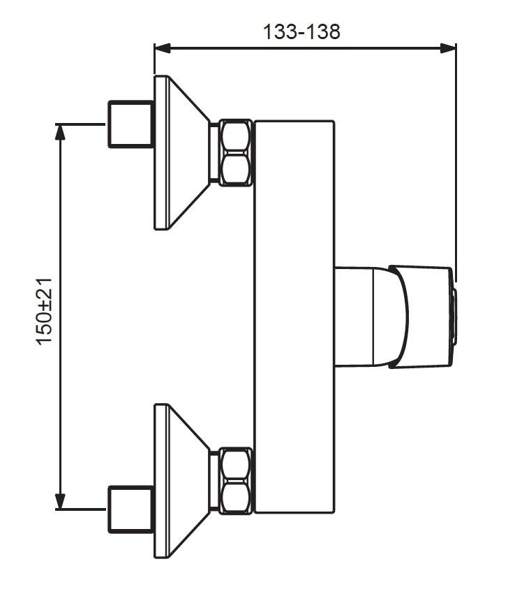 Схема смесителя для душа Vidima Hype 398