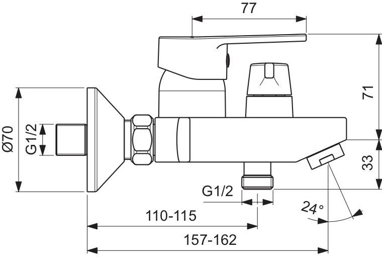 Схема смесителя Vidima Hype (короткий нос) 399