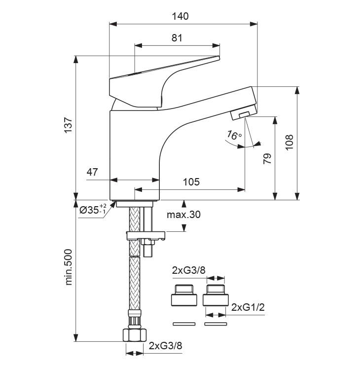 Схема смесителя Vidima Next 366