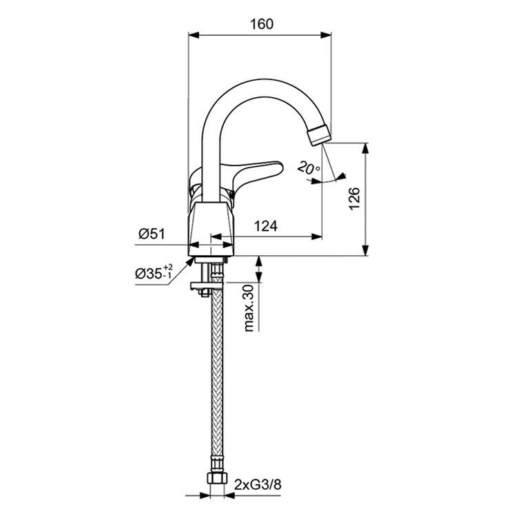 Схема смесителя Vidima Next 367