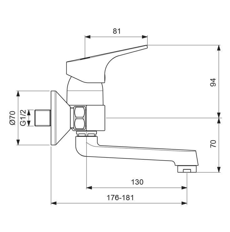 Схема смесителя Vidima Next 368