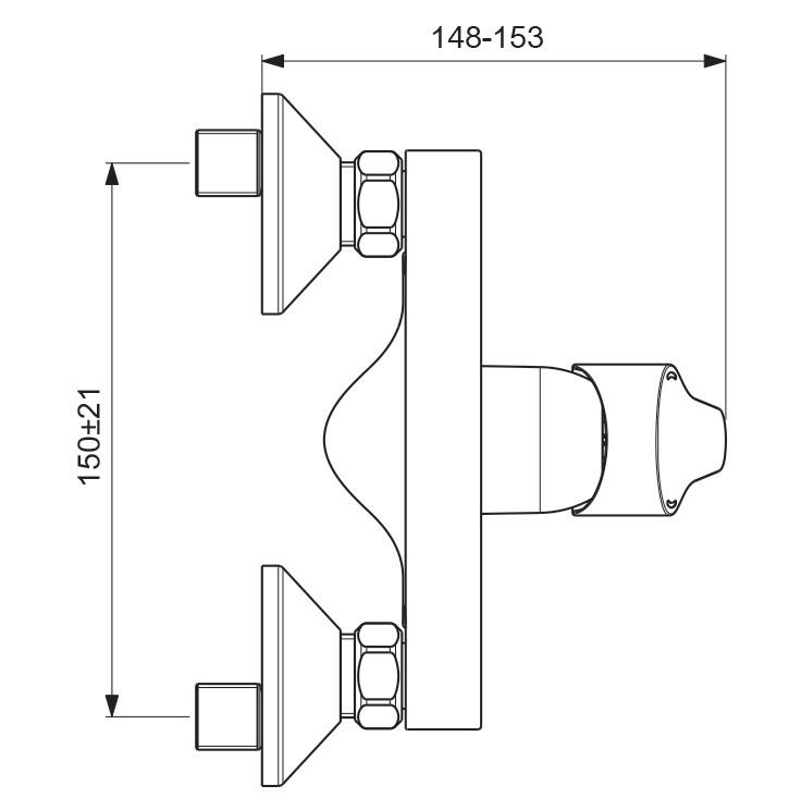 Схема смесителя Vidima Next 370