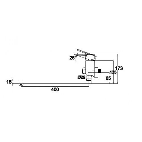 """Схема смесителя для ванны """"Kaiser-Orbit"""" 20055"""