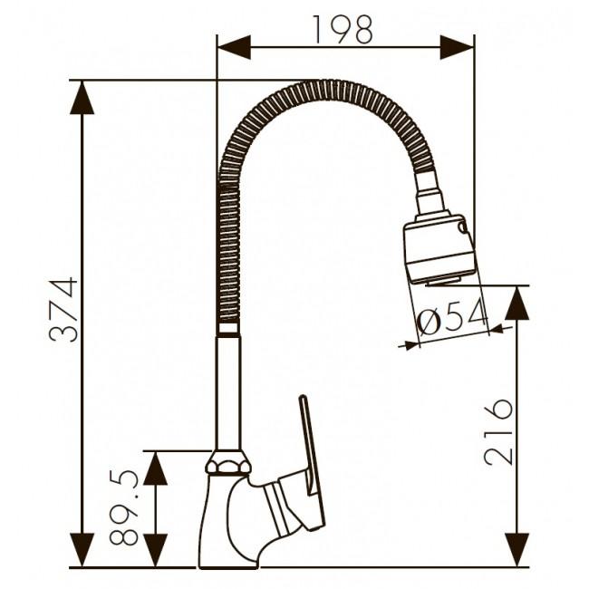 """Схема смесителя для кухни """"Kaiser-Eco"""" 00066"""