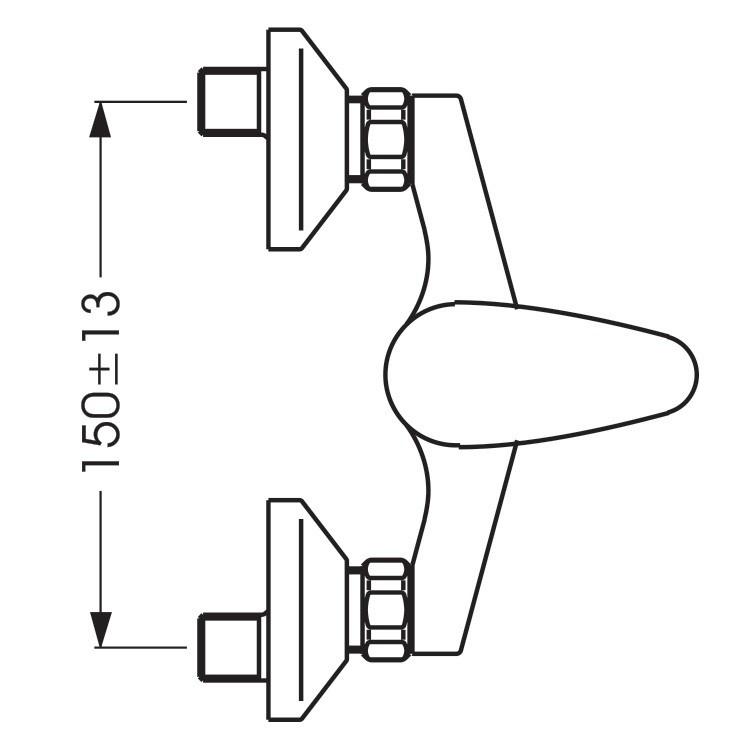 Смеситель для душа Vidima Орион 003 (схема)