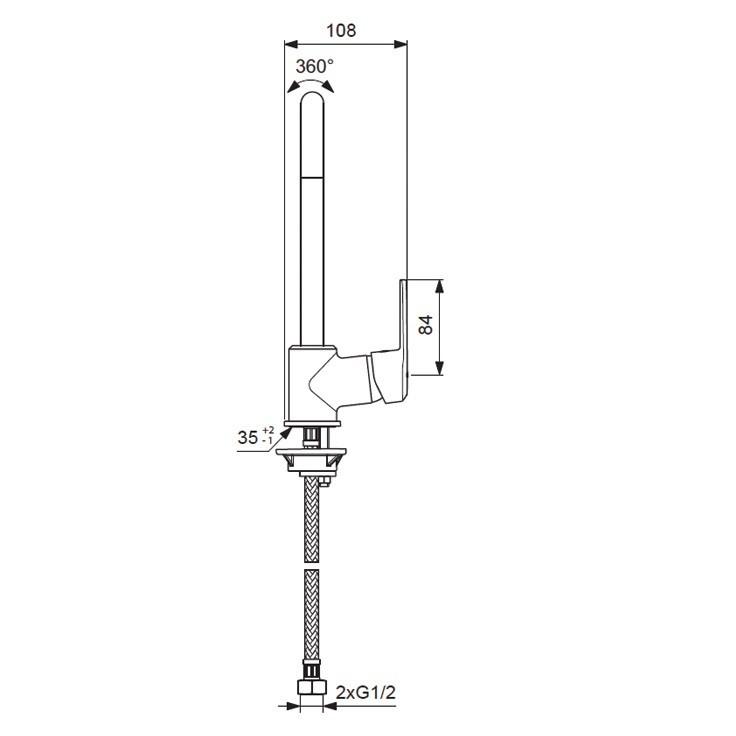 Смеситель для кухни Vidima-Balance арт.269 (схема)