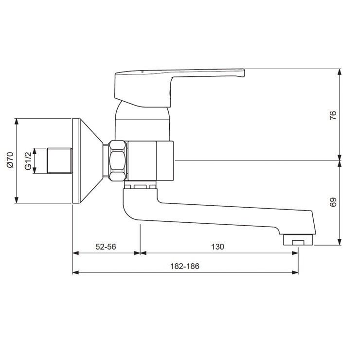Смеситель для умывальника/кухни Vidima-Уно арт.250 (схема)