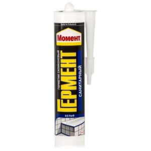 Герметик силиконовый санитарный Момент белый 280мл