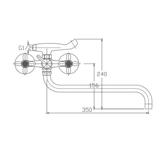 Схема смесителя для ванны Haiba арт.2018